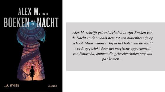 Alex M. schrijft griezelverhalen in zijn Boeken van de Nacht en dat maakt hem tot een buitenbeentje op school. Maar wanneer hij in het holst van de nacht wordt opgeslokt door het magische appartement van Natascha,